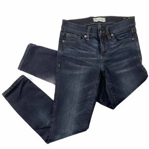 Madewell 25 Skinny Skinny Crop Jeans dark wash